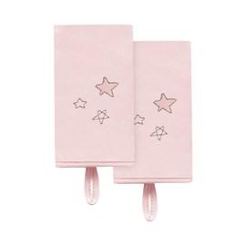 Babita malha kit c/ 2 hug ceu infinito estrelas rosa