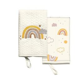 Babita malha kit c/ 2 hug siga o arco-iris