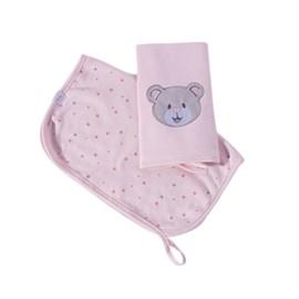 Babita suedine kit c/ 2 hug brilha estrelinha rosa