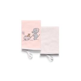 Babita suedine kit c/ 2 hug lembranças de infancia rosa