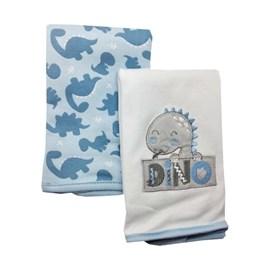 Babita suedine kit c/ 2 hug meus dinos azul