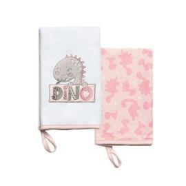 Babita suedine kit c/ 2 hug meus dinos rosa