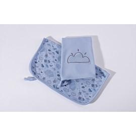 Babita suedine kit c/ 2 hug nevoa azul