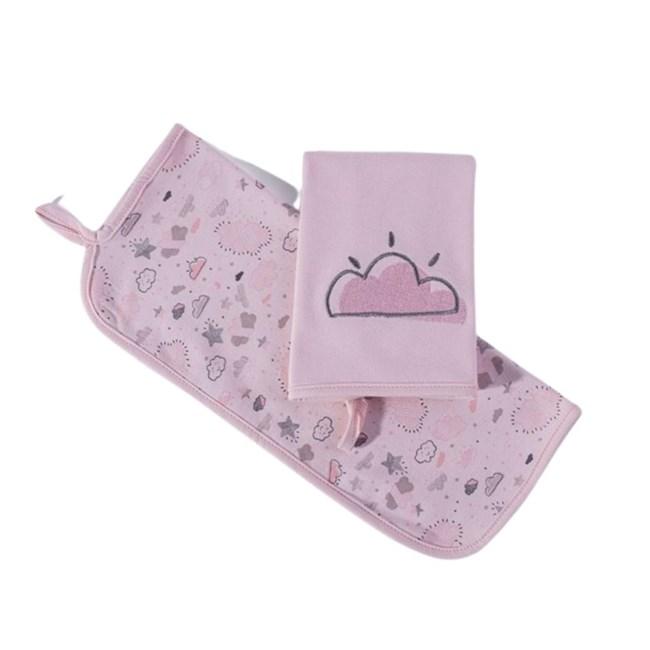 Babita suedine kit c/ 2 hug nevoa rosa