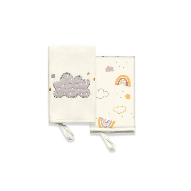 Babita suedine kit c/ 2 hug siga o arco iris