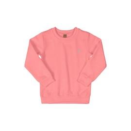 Blusa de moletom infantil up baby rosa fluor