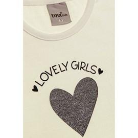 Blusa manga longa bebe lovely girls tmx off white