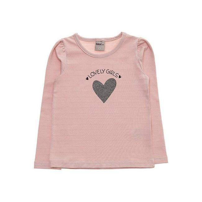 Blusa manga longa bebe lovely girls tmx rosa