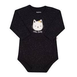 Body bebe gatinho preto nini & bambini