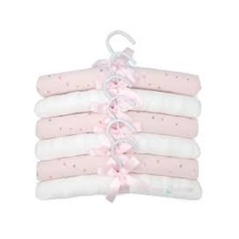 Cabide infantil hug kit c/ 6 brilha brilha estrelinha rosa
