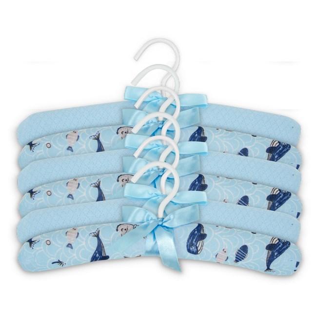 Cabide infantil hug kit c/ 6 fundo do mar azul