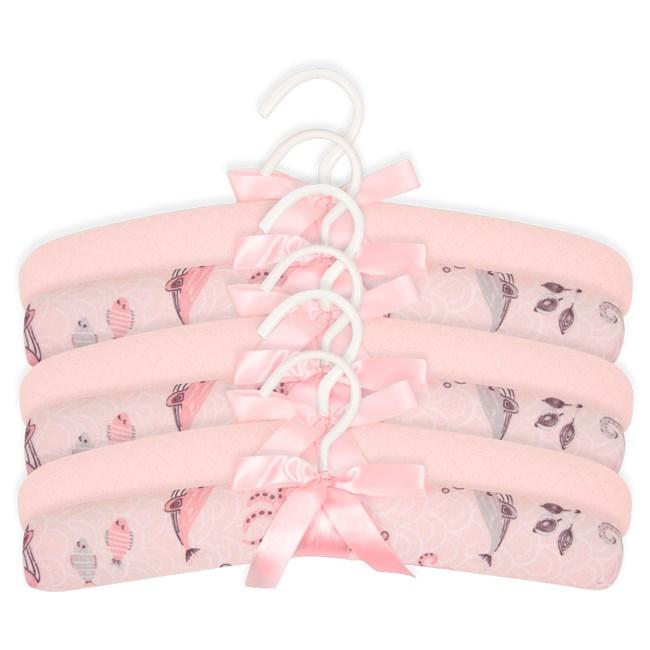 Cabide infantil hug kit c/ 6 fundo do mar rosa