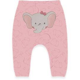 Calça saruel bebe com bordado hug elefantinha bailarina