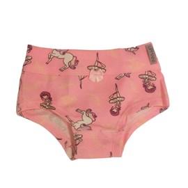 Calcinha infantil upman cotton bailarina rosa