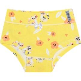 Calcinha infantil upman cotton gatinho amarelo