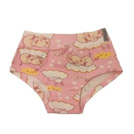 Calcinha infantil upman cotton hora do soninho rosa