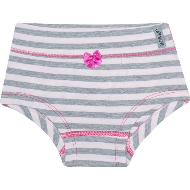 Calcinha infantil upman cotton kit c/3 rosa