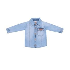 Camisa para bebe my boy baby doces momentos jeans claro