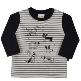 Camiseta manga longa cachorrinhos nini bambini