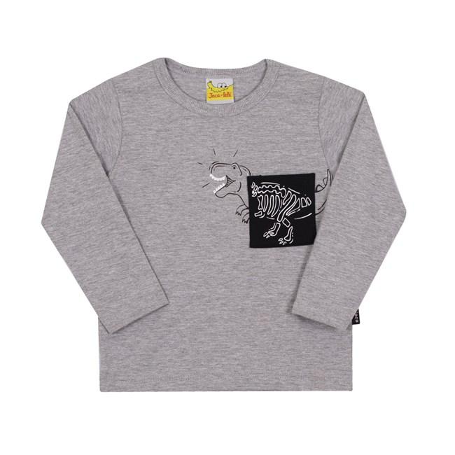Camiseta manga longa dino jaca lele