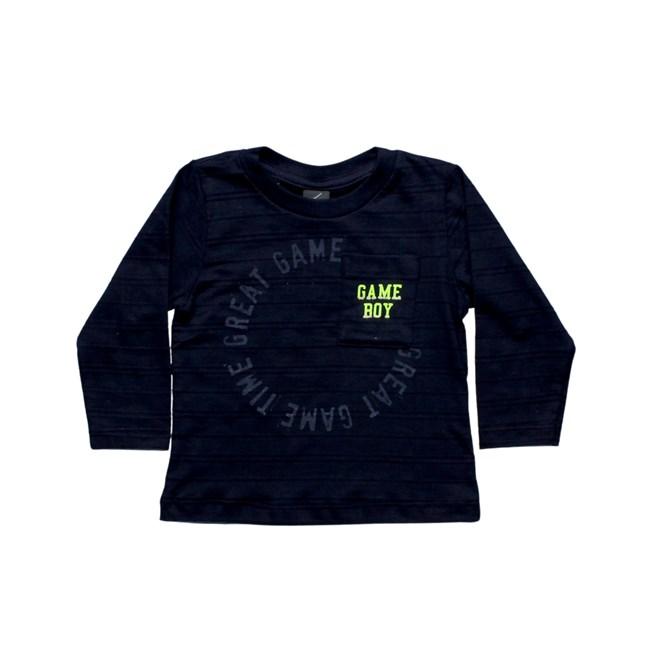 Camiseta manga longa game tmx marinho