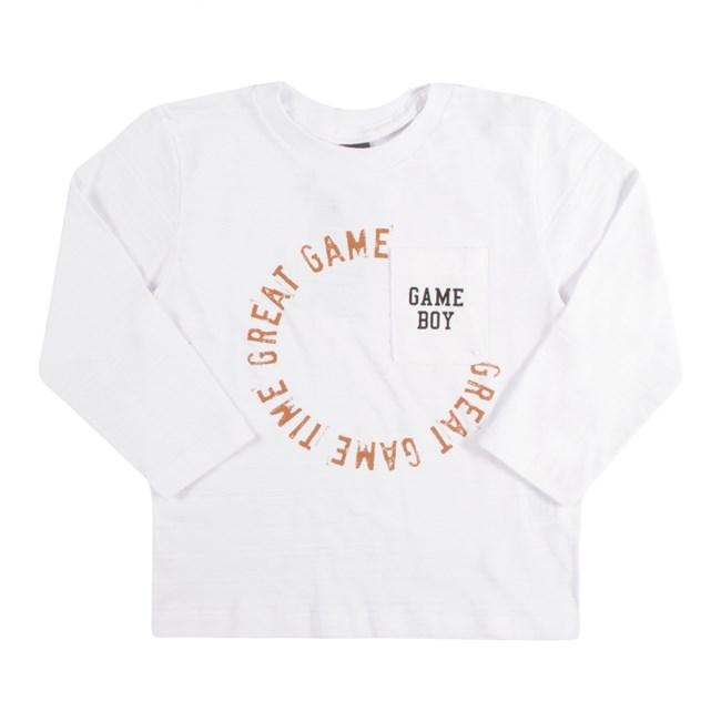 Camiseta manga longa game tmx off white