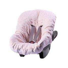 Capa para bebe conforto hug brilha estrelinha rosa