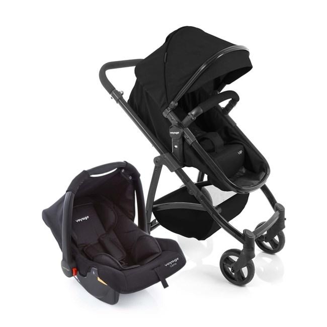 Carrinho de bebe com bebe conforto vip voyage 3 em 1 preto