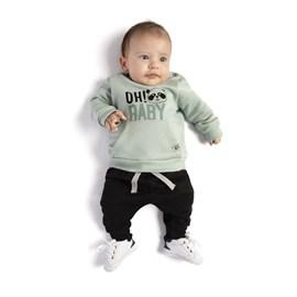 Conjunto bebe blusa e calça oh baby tmx turmalina/preto