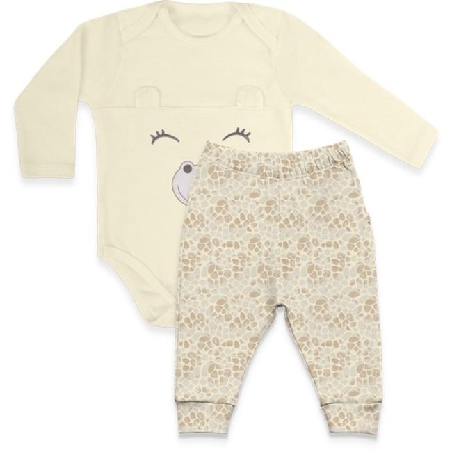 Conjunto bebe body + calca saruel hug girafas avela