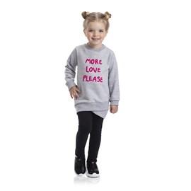 Conjunto infantil blusa e legging more love tmx mescla