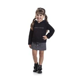 Conjunto infantil blusa e saia simply lovely tmx preto