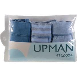 Cueca infantil boxer upman cotton kit c/3 azul