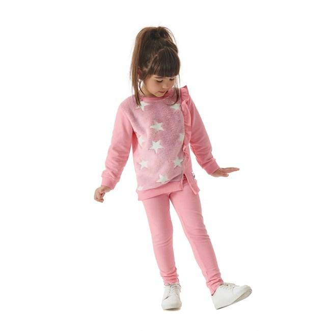 Legging infantil cotton up baby rosa