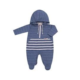 Macacao bebe c/ zíper explorer baby doces momentos azul