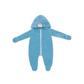 Macacao bebe plush vira mão baby doces momentos azul
