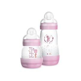 Mamadeira mam easy start 0m+ mam kit c/ 2 un rosa