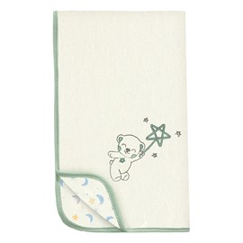 Manta de bebê soft hug céu infinito bege verde