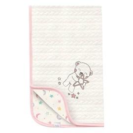 Manta para bebe matelasse hug céu infinito bege rosa