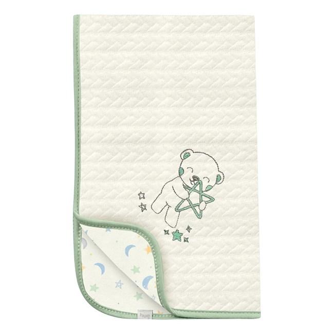 Manta para bebe matelasse hug ceu infinito bege verde