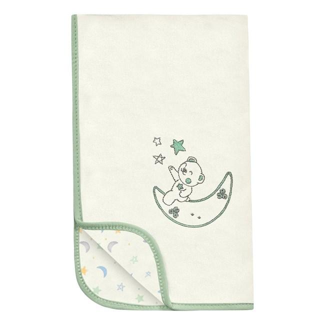 Manta para bebe suedine hug céu infinito bege verde