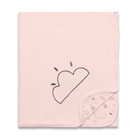 Manta para bebe suedine hug nevoa rosa
