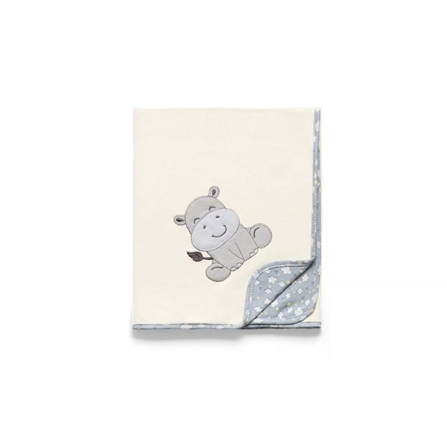 Manta para bebe suedine hug nuvens de algodao