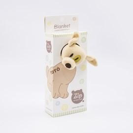 Naninha de bebê atoalhada zip toys cachorro