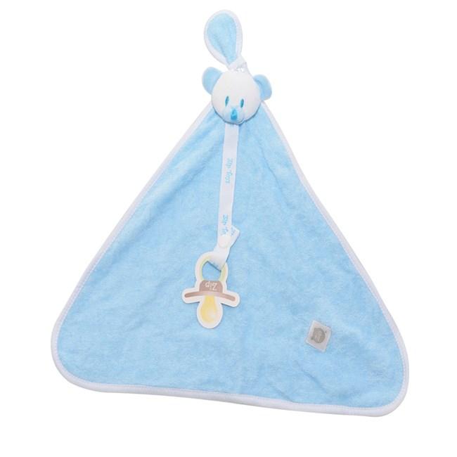 Naninha de bebê atoalhada zip toys urso azul