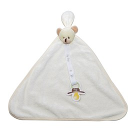 Naninha de bebê atoalhada zip toys urso bege