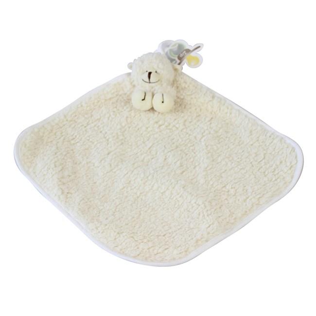 Naninha de bebê cetim zip toys ovelha