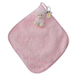 Naninha de bebê cetim zip toys ovelha rosa
