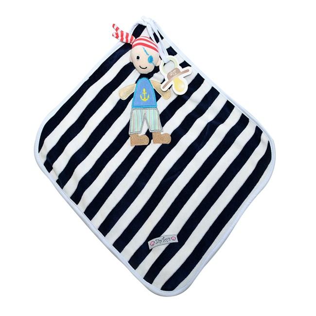 Naninha de bebê cetim zip toys pirata