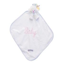 Naninha de bebê cetim zip toys poodle branco